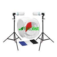 Набор для предметной съемки Arsenal SLH-003, 2x85w, 850 Вт, лайткуб 60х60х60см, 4 фона