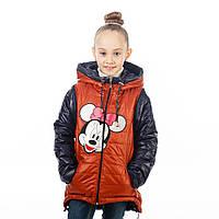 Весенняя курточка - жилет для девочки на рост 110-122