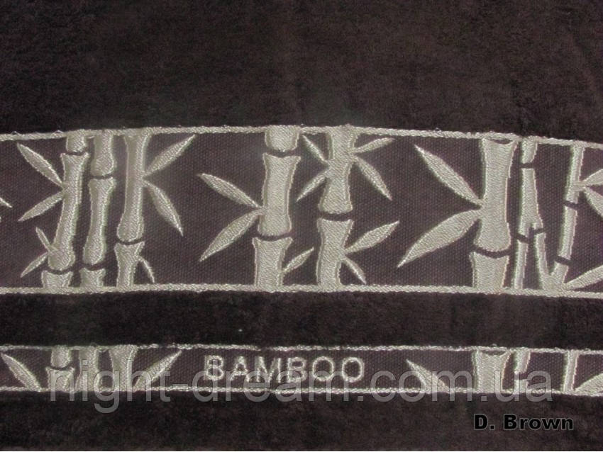 Бамбуковая махровая простыня Arya Elanor 200х220 коричневая
