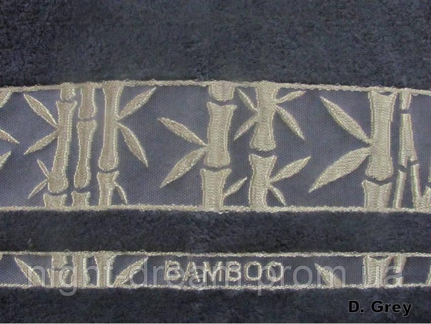 Бамбуковая махровая простыня Arya Elanor 200х220 темно-серая
