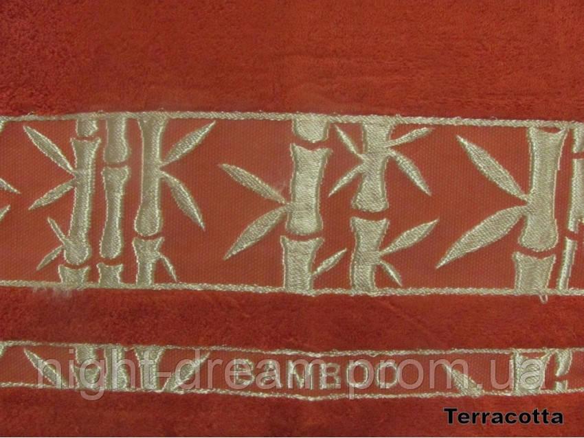Бамбуковая махровая простыня Arya Elanor 200х220 терракотовая