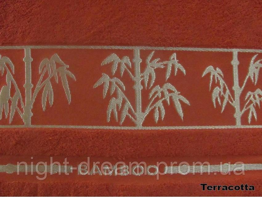 Бамбуковая махровая простыня Arya Bonita 200х220 терракотовая