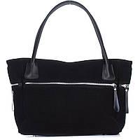 Женская замшевая сумка 1891 черного цвета Италия
