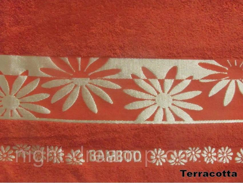 Бамбуковая махровая простыня Arya Papatya 200х220 терракотовая