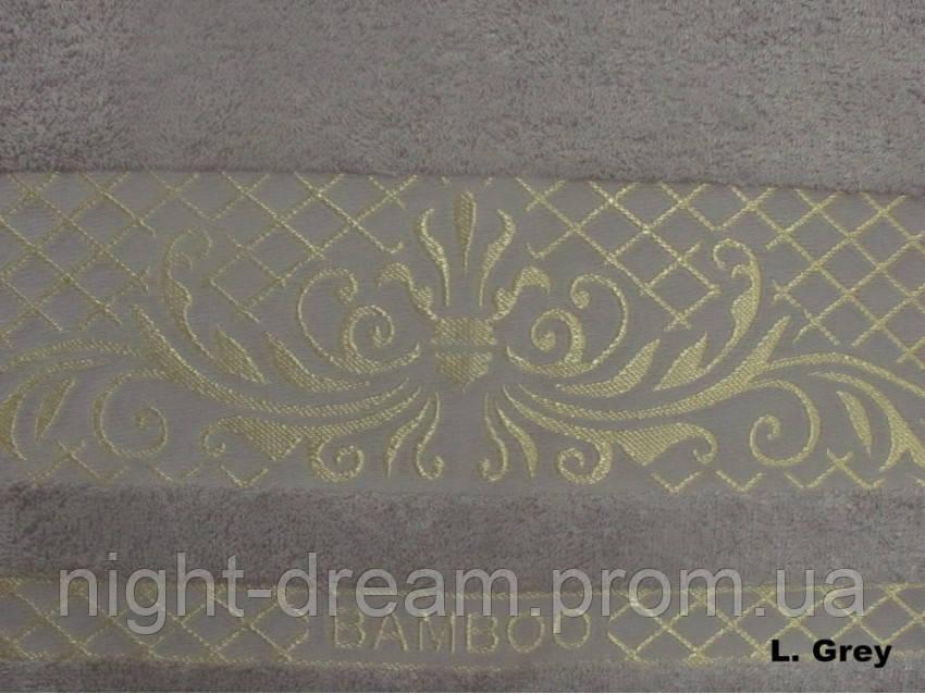 Бамбуковая махровая простыня Arya Victorya 200х220 светло-серая