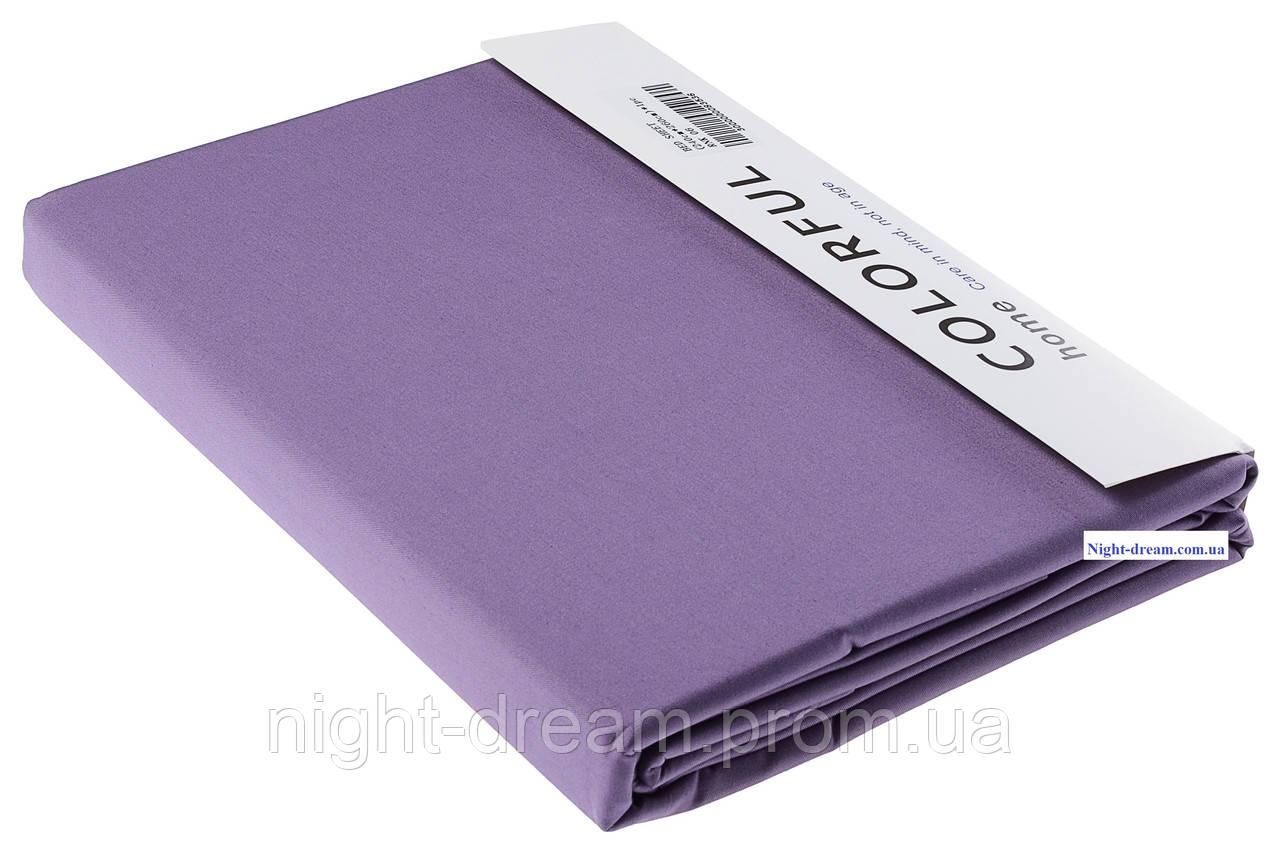 Простынь Arya сатин 180х240 фиолетовая 06