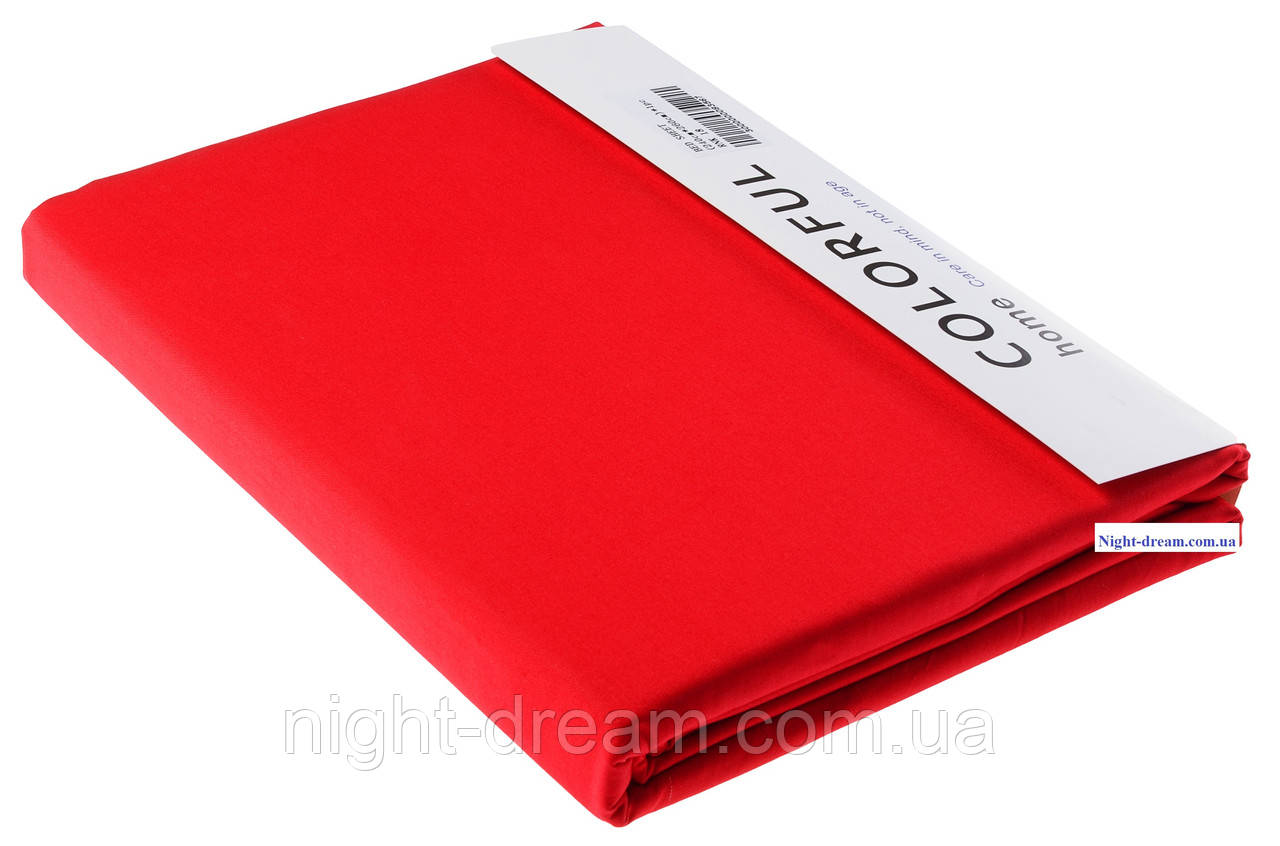 Простынь Arya сатин 240х260 красная 18