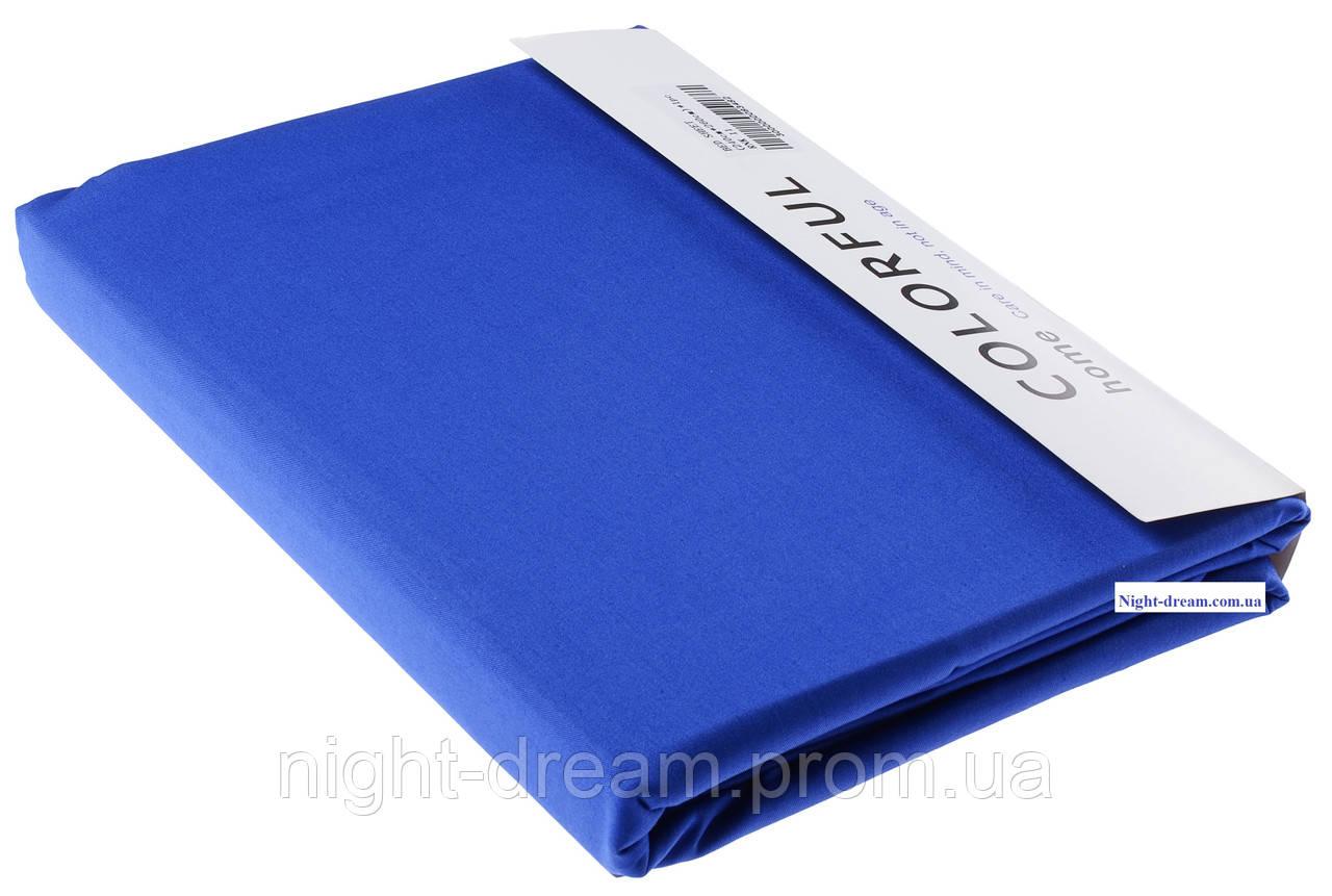 Простынь Arya сатин 240х260 синяя 11