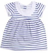 Летнее ясельное платье для девочки 1-2 года Тельняшка