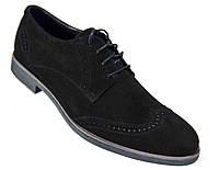 """Мужские замшевые туфли """"Mida"""". Черные"""