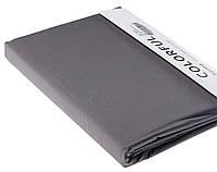 Простыня однотонная 240х260 сатин 03-темно-серый