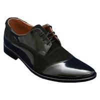 Мужские туфли орыгинал с натуральной кожи замш + лак