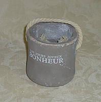 Керамический горшок под маленький вазон прованс