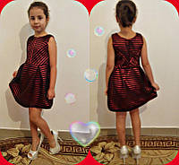 Нарядное красивое красное детское платье. Арт-1513