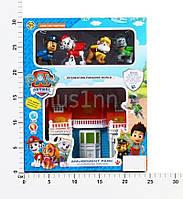Игровой набор домик Щенячий патруль 564 ZY музыка, свет, 4 фигурки, с мебелью