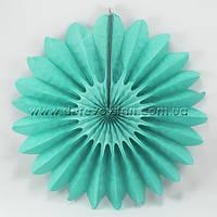 Подвесной веер, тиффани, 40 см - бумажный декор-розетка