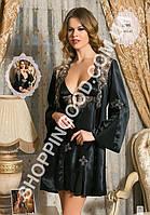 Шелковый комплект халат и ночная сорочка (пеньюар) Angel Story 1295