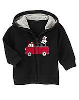 """Кофта для мальчика """"Пожарная машина """".  3-6,  6-12  месяцев"""