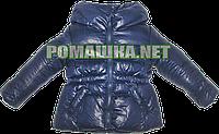 Детская весенняя, осенняя куртка р 74 (рост до 86 см) утепленная, подкладка полиэстр, ТМ Lefties 3032 Синий