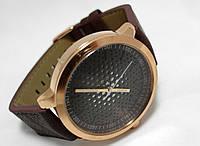 Мужские часы Guardo - Space chokolate, цвет корпуса золотой, коричневый ремешок
