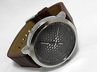 Мужские часы Guardo - Space chokolate, цвет корпуса серебро, коричневый ремешок