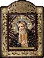 Набор с фигурной рамкой для вышивания бисером икона Св. Прп. Серафим Саровский