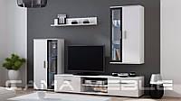 Мебельная стенка Dora Белый + черный