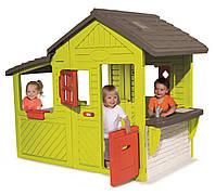 Игровой садовый домик с кухней-барбекю и звонком Smoby 310300