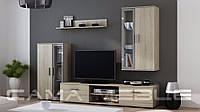 Мебельная стенка Dora  Дуб Sonoma + серый