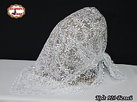 Свадебный платок белый Вилора