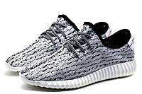 Кроссовки мужские Adidas Yeezy Boost 350, текстиль, бело-черные, фото 1