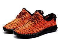 Кроссовки мужские Adidas Yeezy Boost 350, текстиль, оранжевые, р. 44, фото 1