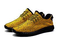 Кроссовки мужские Adidas Yeezy Boost 350, текстиль, желтые, фото 1