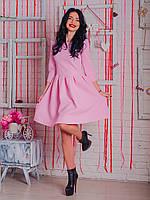 Молодежное платье бэби-долл  Марсель розового цвета