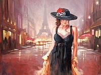 Раскраска по цифрам Турбо Париж в стиле ретро худ Спейн Марк  30 х 40 см