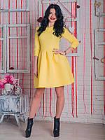 Молодежное платье бэби-долл  Марсель желтого цвета