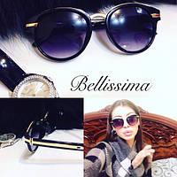 Женские модные солнцезащитные очки с позолоченными вставками в оправе d-431681