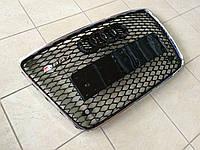 Решетка радиатора RS на AUDI Q7 (черная с хромированной окантовкой)