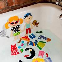 Игровой набор для ванны Стикеры Модные наряды | Набор для ванной Стикеры Модные наряды | Meadow Kids MK 030