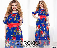Платье женское шифоновое 48+, фото 1