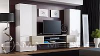 Мебельная стенка Tori Белый + дуб Сонома