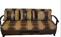 Диван Микс 2 с подлокотниками из дерева, ткань мега