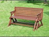 Лавка-стол трансформер деревянная