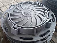 """Люк чавунний каналізаційний важкий типу """"Т"""" С250 (БТ)"""