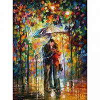 Картина-раскраска Турбо Поцелуй под зонтом худ Афремов, Леонид  40 х 50 см