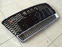Решетка радиатора RS7 (Quattro) на Audi A7 (черная с хромированной окантовкой)