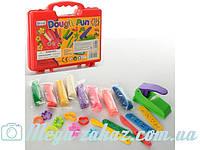 Тесто для лепки (пластилин для лепки) Dough Fun, 8 цветов: пресс + инструменты 3шт + формочки 8шт.