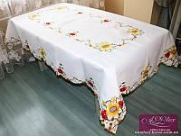 Скатерть атласная люкс с вышивкой, арт. ALT-3004