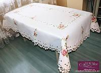 Скатерть атласная люкс с вышивкой, арт. ALT-3053