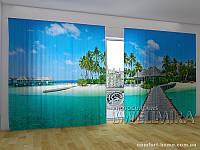 Фотоштора ПАНОРАМА 3D Дорога к раю, 2,7х5,0 м, арт. FRA-10 001101